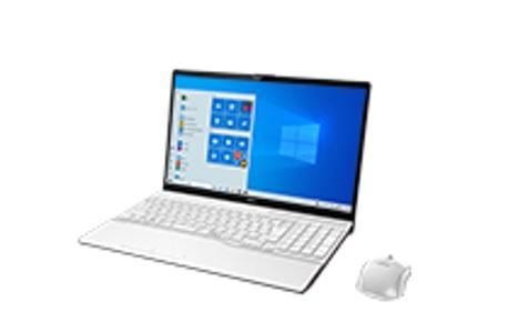 【再生品Aランク】LIFEBOOK AH49/E /Windows 10 /officr付 / Core i5-10210U /512GB SSD 8GB FHD Blu-ray プレミアムホワイト