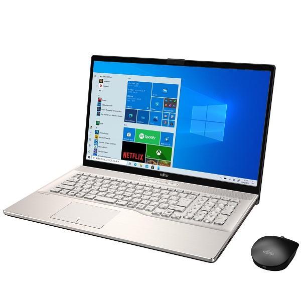 【再生品Aランク】LIFEBOOK NH77/E3 /Windows 10 /AMD Ryzen 7 4700U /Office付き/512GB SSD 8GB 17.3型 FHD Blu-ray シャンパンゴールド