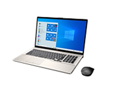 【再生品Aランク】LIFEBOOK NH93/E2 Windows 10 /Core i7-10750H /512GB SSD + 2TB HDD/16GB FHD シャンパンゴールド