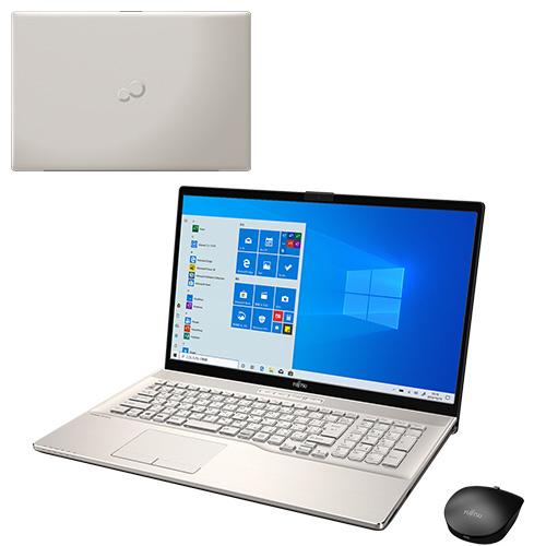 【再生品】LIFEBOOK NH90/D2 /Windows 10 /Core i7-9750H /512GB SSD + 1TB 8GB 17.3型FHD Blu-ray シャンパンゴールド