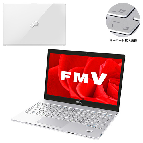 【新品再生品】LIFEBOOK SH90/B3 /Windows 10 /Core i5-8250U /256GB SSD 8GB WQHD タッチ DVD Office アーバンホワイト
