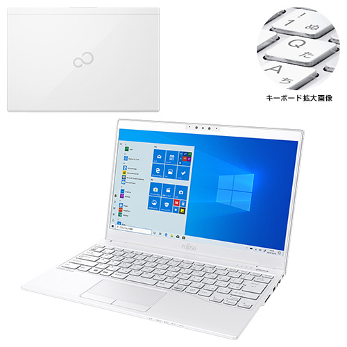【新品再生品】LIFEBOOK UH90/B3 /Windows 10 /Core i7-8550U /256GB SSD 8GB FHD タッチ Office アーバンホワイト
