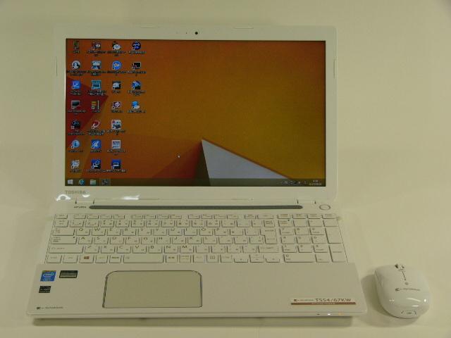 【再生品】dynabook T554/67KW PT55467KBXW /Win 8.1 /Core i7-4700MQ /1TB 8GB BD BTマウス 白