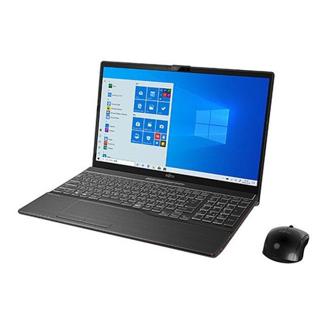 【再生品Aランク】LIFEBOOK AH-X/D3 /Windows 10 /Core i7-9750H /32GB Optane +1TB SSD 8GB 有機ELディスプレイ 4K(UHD) Blu-ray ブライトブラック