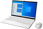 【再生品Aランク】LIFEBOOK AH49/D3 /Windows 10 /Core i5-8265U /512GB SSD 8GB FHD Blu-ray Office プレミアムホワイト