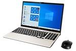 【再生品Aランク】LIFEBOOK AH53/E2 /Windows 10 /Core i7-10510U /1TB SSD 8GB FHD Blu-ray シャンパンゴールド