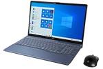 【再生品Aランク】LIFEBOOK AH77/D3 /Windows 10 /Core i7-9750H /32GB Optane + 512GB SSD + 1TB 8GB FHD Blu-ray Office メタリックブルー
