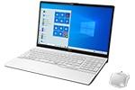 【再生品】LIFEBOOK AH79/D3 /Windows 10 /Core i7-9750H /32GB Optane + 512GB SSD 8GB FHD Blu-ray Office プレミアムホワイト