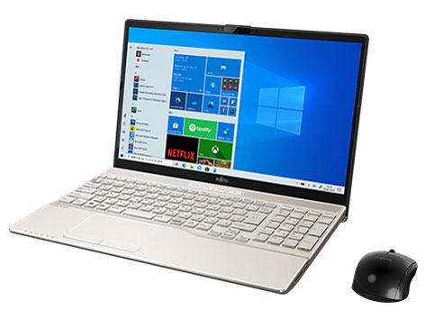 【再生品Aランク】LIFEBOOK AH53/E3 /Windows 10 Home/Core i7-1165G7 /512GB SSD 8GB FHD Blu-ray シャンパンゴールド