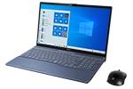 【再生品Aランク】LIFEBOOK AH77/E3 /Windows 10 /Core i7-1165G7 / 32GB Optaneメモリー+1TB SSD/16GB FHD メタリックブルー