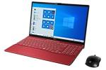 【再生品Aランク】LIFEBOOK AH77/E2 /Windows 10 /Core i7-10710U /32GB  Optane メモリ ー+ 1TB SSD/8GB FHD ガーネットレッド