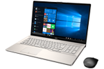 【再生品】LIFEBOOK NH77/D2 /Windows 10 /Core i7-8565U /128GB SSD + 1TB 8GB 17.3型FHD Blu-ray シャンパンゴールド