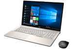 【再生品】LIFEBOOK NH78/D2 /Windows 10 /Core i7-8565U /512GB SSD 8GB 17.3型FHD Blu-ray シャンパンゴールド