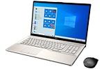 【再生品Aランク】LIFEBOOK NH90/E2 /Windows 10 /Core i7-10750H /32GB Optane + 512GB SSD + 1TB HDD 16GB 17.3型 FHD Blu-ray シャンパンゴールド