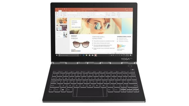 ■新品保証付■Yoga Book C930 /Windows 10 /Core m3-7Y30 /128GB SSD 4GB WQXGA タッチ