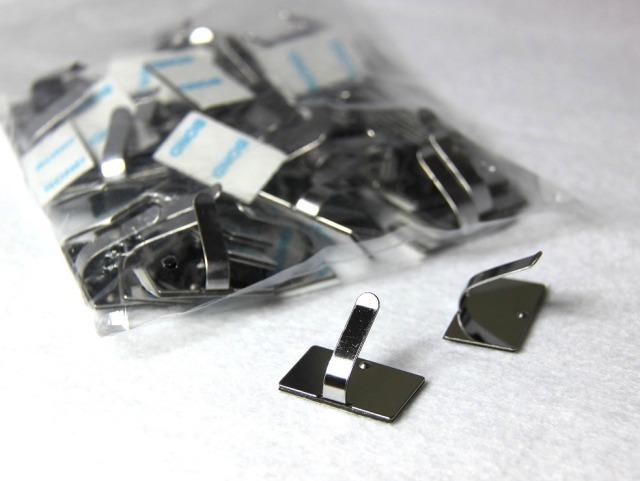配線留め SP-25V ステンレス鋼鈑品 強力両面テープ付 50個入