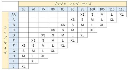 アフロディーテサイズチャート5