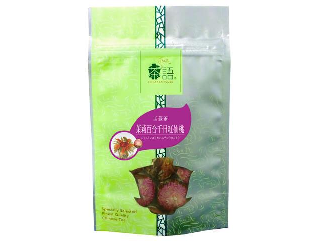 茶語(Cha Yu)工芸茶 茉莉百合千日紅仙桃 品番43003