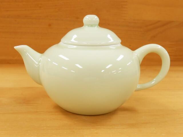 B級品【箱なし】茶壺 青磁 4杯 標準