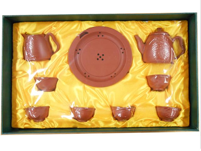 B級品【箱のつぶれや使用は出来るがキズなど有り】小さな茶器セット (朱泥)