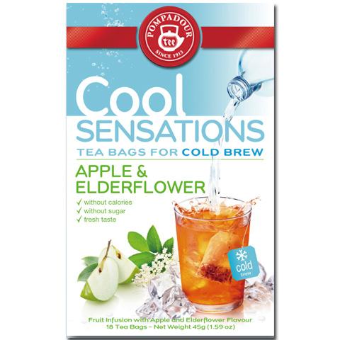 ほんのり甘酸っぱい水出しハーブティー ポンパドール/クールセンセーション エルダーアップル(18ティーバッグ) 品番14047