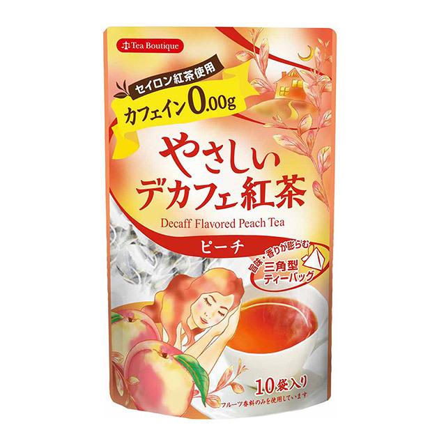 カフェイン0.00g やさしいデカフェ紅茶(ピーチ) 品番14208
