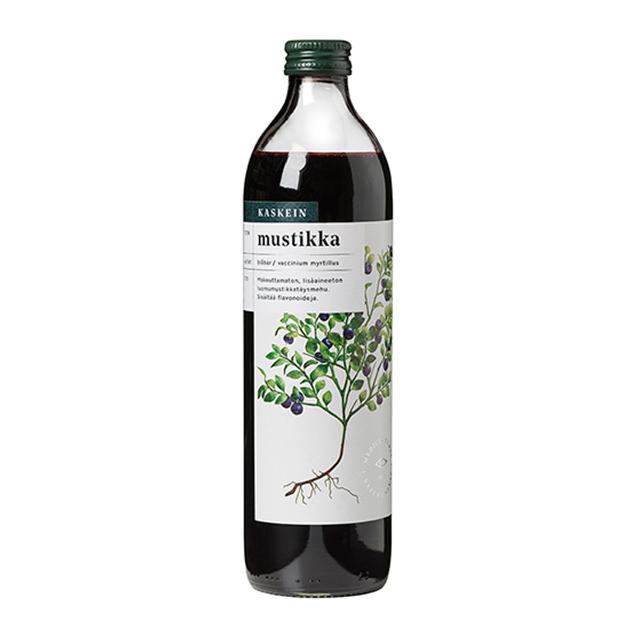 豊かな自然に恵まれた北欧産ビルベリーを使用 カスケイン オーガニック ビルベリー100%ジュース(500ml) 品番14211