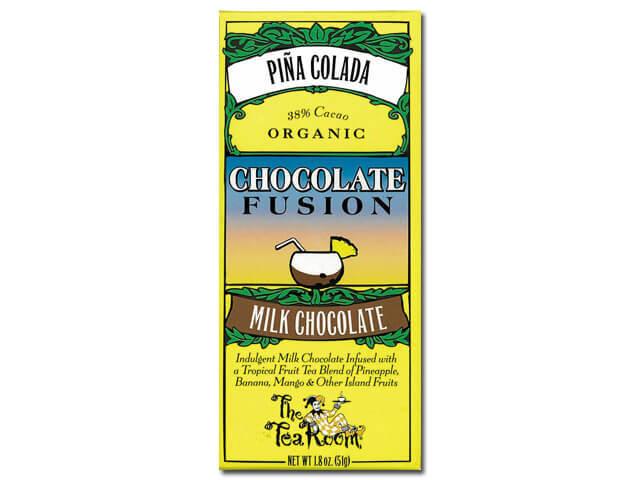 チョコレート1枚にカップ1杯分のお茶が含まれる、芳醇なチョコレート ティールーム・オーガニックチョコレート/ピニャ コラーダ 品番1949