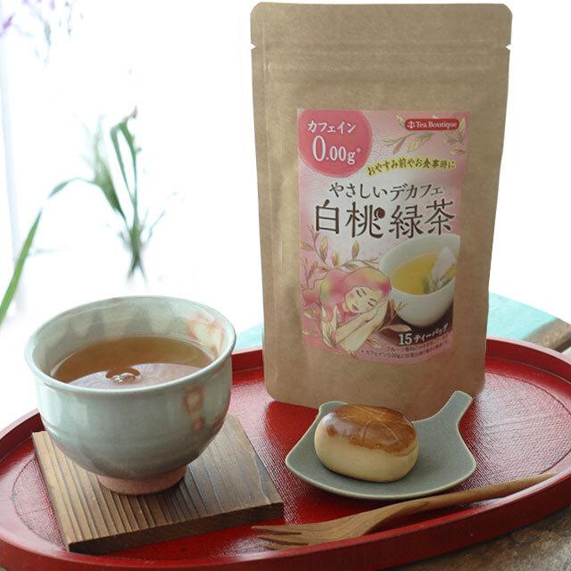 やさしいデカフェ 白桃緑茶
