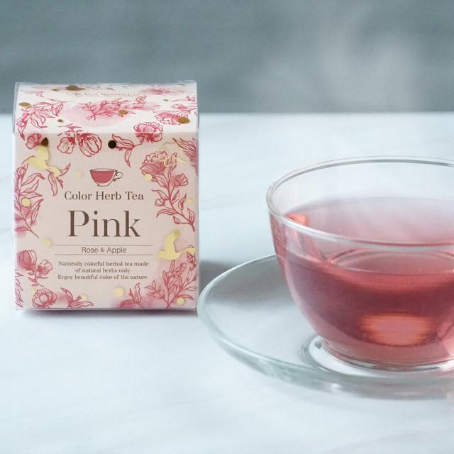 カラーハーブティー ピンク