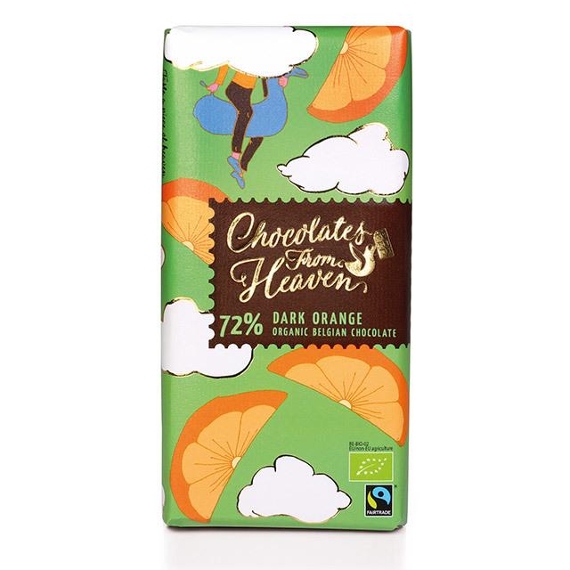 チョコレートフロムヘブン 72% ダークオレンジ
