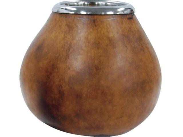 本格的にマテ茶を楽しむ マテ壺(brown) 品番【21418】
