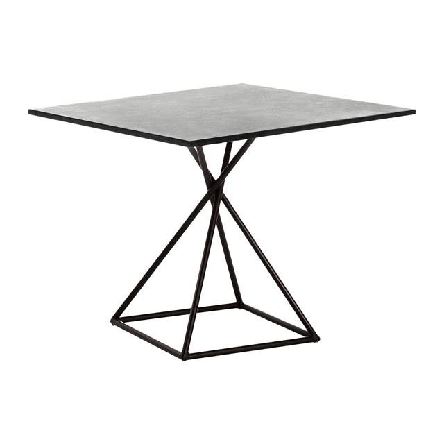 ブラックリール スクエアダイニングテーブル(ストーン天板) (BLACK-LILLE-GBB8101PDC)
