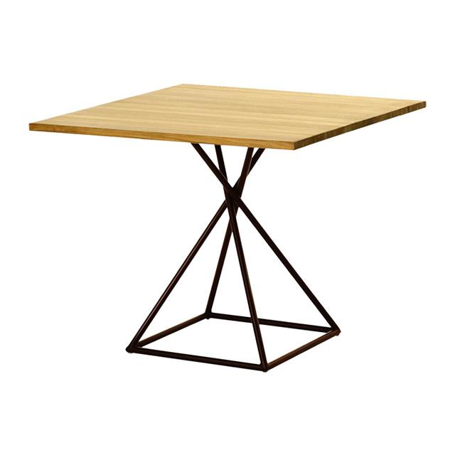 ブラックリール スクエアダイニングテーブル(チーク天板) (BLACK-LILLE-GBB8111PDC)