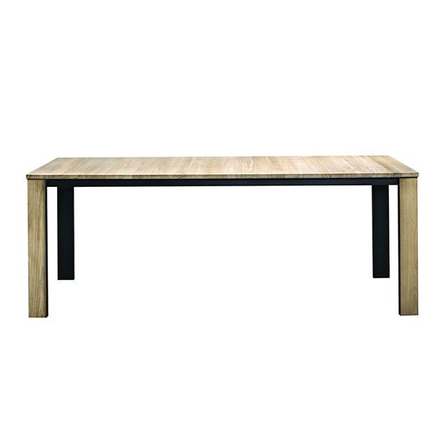 ボンディ レクタングルダイニングテーブル(ブラックステンレス) (BONDY-GBC8441PDC)
