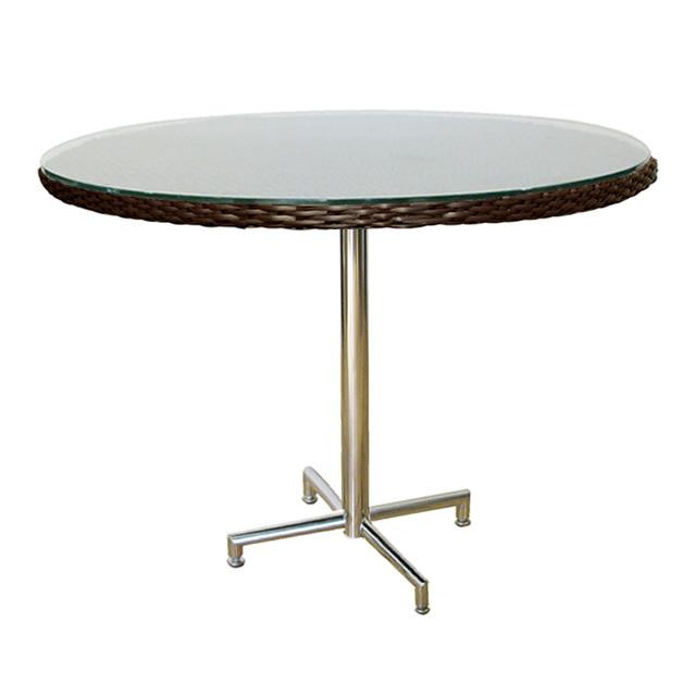 コラル カフェテーブル ラウンド 新世代ラタン天板×ステンレス (CORAL-SAL-0954-RT)
