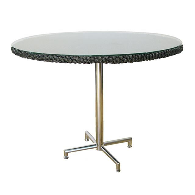 コラル カフェテーブル ラウンド 新世代ウォーターヒアシンス天板×ステンレス (CORAL-SALW-0954-RT)