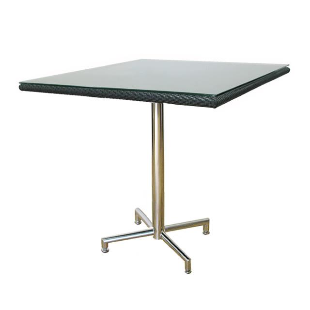コラル カフェテーブル スクエア 新世代ラタン天板×ステンレス (CORAL-SAL-0954-SQT)