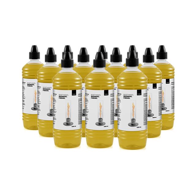 Höfats SPIN BIOETHANOL BOTTLE12 ホーファッツ スピン用 補充用バイオエタノールボトル 1000ml 12本セット (APS-SPIN-BIO-BOTTLE12)