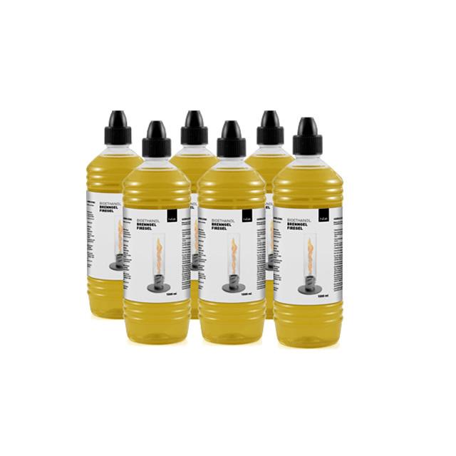 Höfats SPIN BIOETHANOL BOTTLE6 ホーファッツ スピン用 補充用バイオエタノールボトル 1000ml 6本セット (APS-SPIN-BIO-BOTTLE6)
