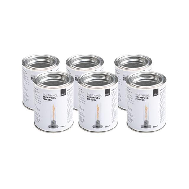 Höfats SPIN BIOETHANOL CAN6 ホーファッツ スピン用 バイオエタノール缶 500ml 6本セット (APS-SPIN-BIO-CAN6)
