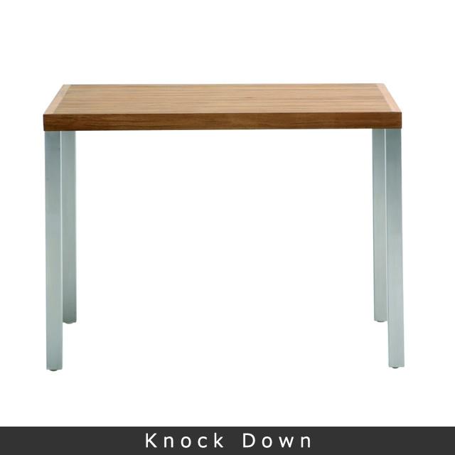 リール スクエアダイニングテーブル(ヘアラインステンレス) (LILLE-GBO8101HL)