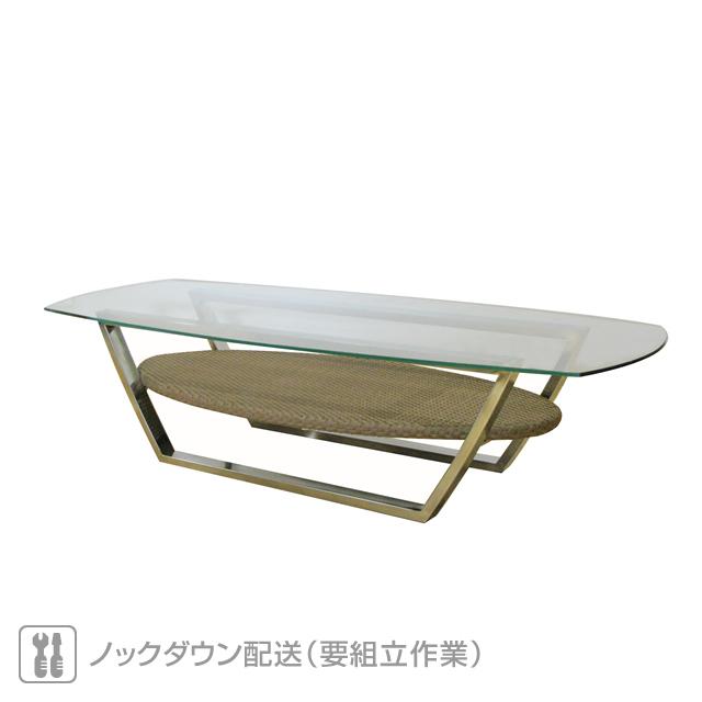 ミュシャ 強化ガラス天板 コーヒーテーブル (MUCHA-SAL-0886-CT)