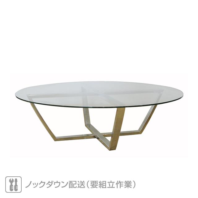 ミュシャ 強化ガラス天板 ラウンドコーヒーテーブル (MUCHA-SAL-0886-CTR)