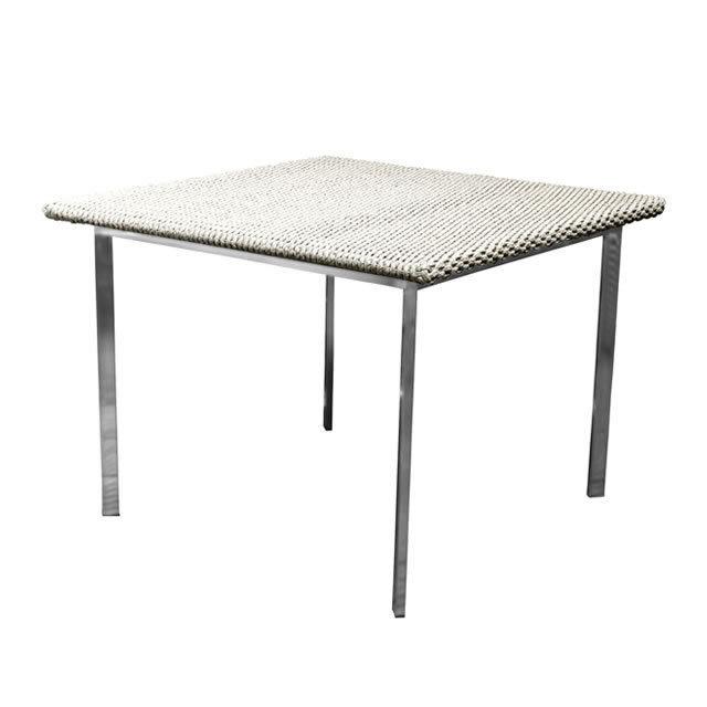 オブシディアン ダイニングテーブル100 ウォーターヒヤシンス天板 (OBSIDIAN-SAL-0749-T100-W)