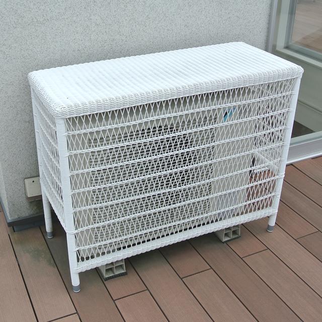 【展示品】 デュラウェアラタンのエアコン室外機カバー NC126(White)