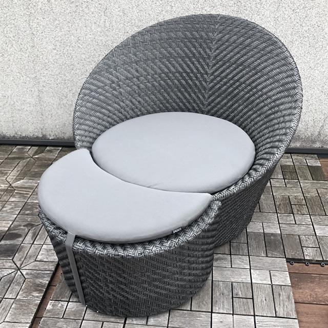 【展示品】 ヴァレッタ ラウンジセット (VLT-ST1) NC1412(Granaite)/Charcoal cushion