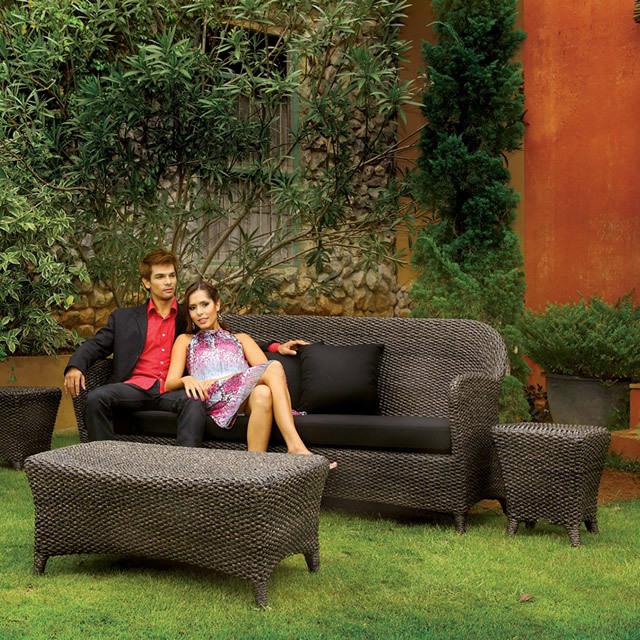 リヴィ どっしりと存在感のあるデザインウォーターヒアシンス ガーデンソファセット (RVI-ST2)