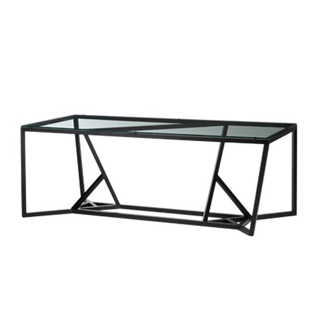 トラン ダイニングテーブル(8人掛) + 強化ガラス天板 (TRANG-GDIT06)