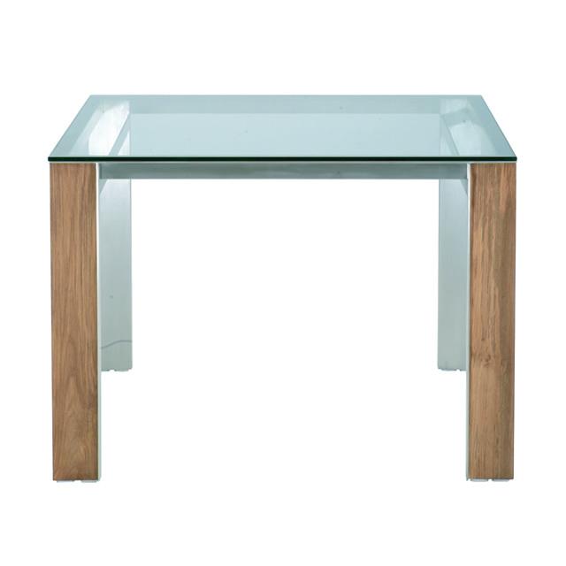 トロイ スクエアダイニングテーブル(強化ガラス天板) (TROY-GGM8996THL)